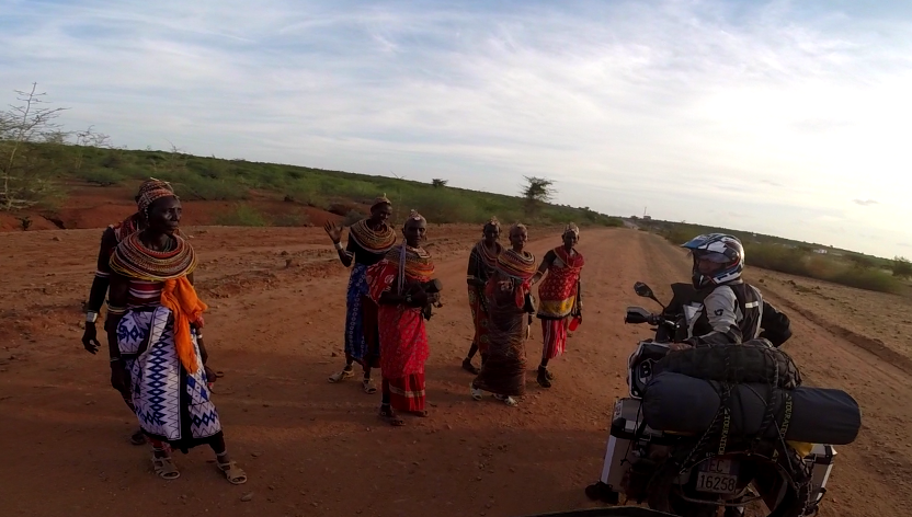 bikers with Masai