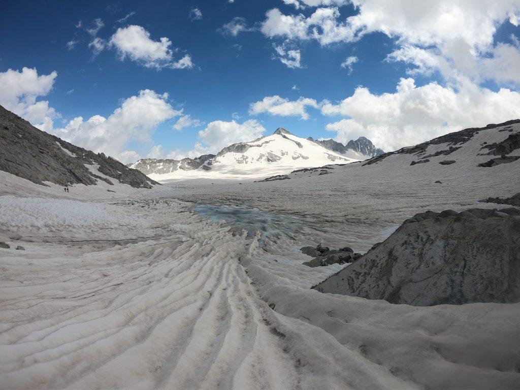 panorama del ghiacciaio