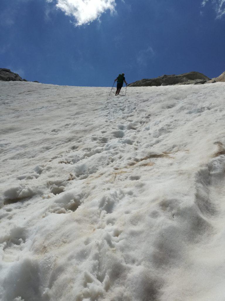 salita verso il nevaio