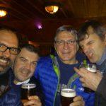 Umberto, Fabrizio, io e Stefano a Londra